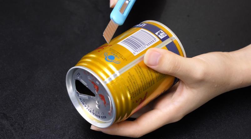 #易拉罐手工制作#易拉罐不要扔,剪几刀放在厨房太实用了,全家人都抢着用,太棒了
