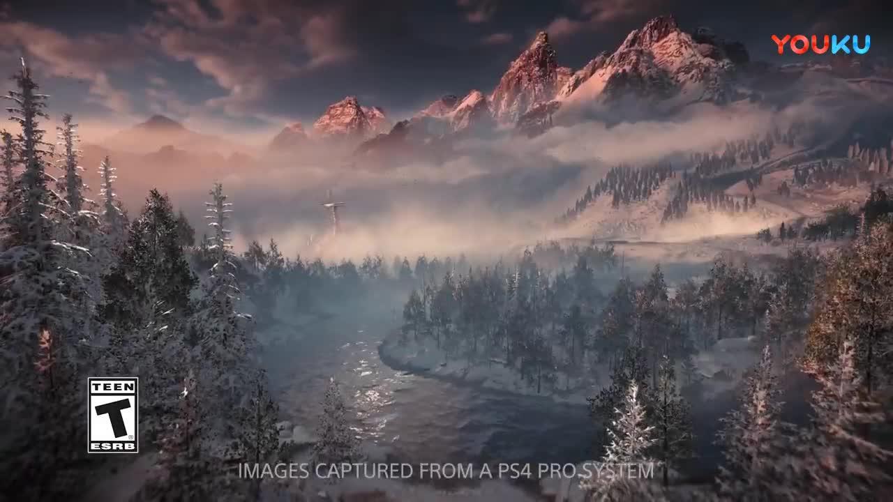 《地平线:黎明时分》DLC12分钟演示雪地激战机甲怪兽