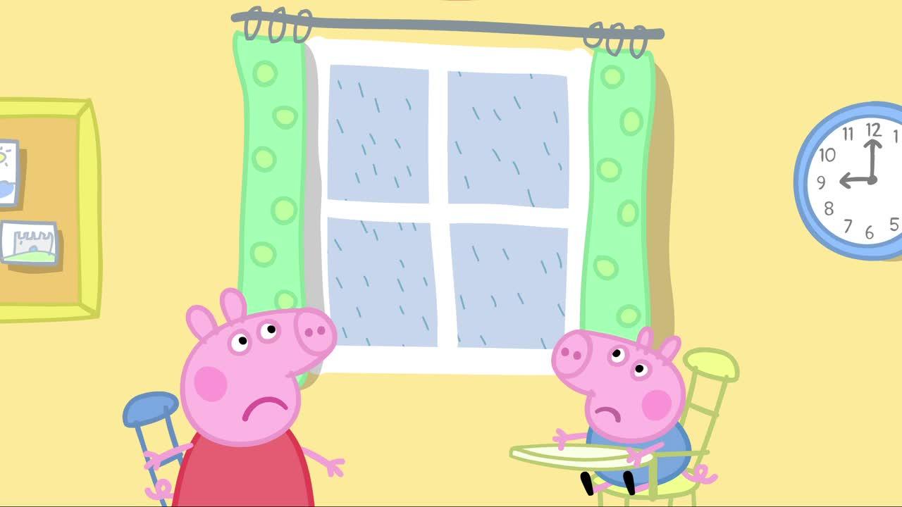 小猪佩奇 001 泥坑 粉红猪小妹 佩佩猪