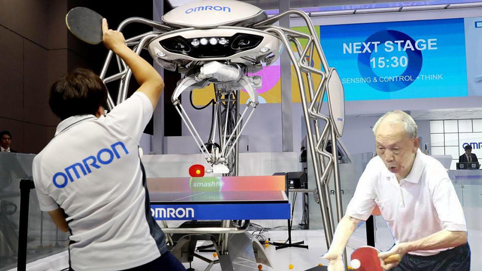 被国人吓怕?老外造一秒80次侦测乒乓球机器人,能打过大爷吗?