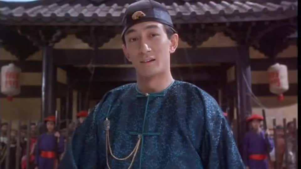 #一个电影迷的修养#《九品芝麻官》星爷和吴启华的这段经典台词,绝对是剧中的最大亮点