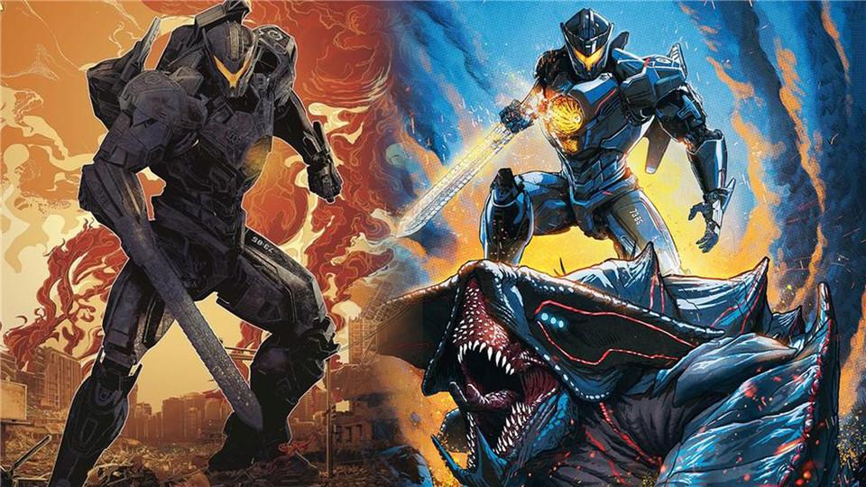#电影最前线#《环太平洋2》新预告大量战斗画面曝光,炫酷机甲激战外星巨兽