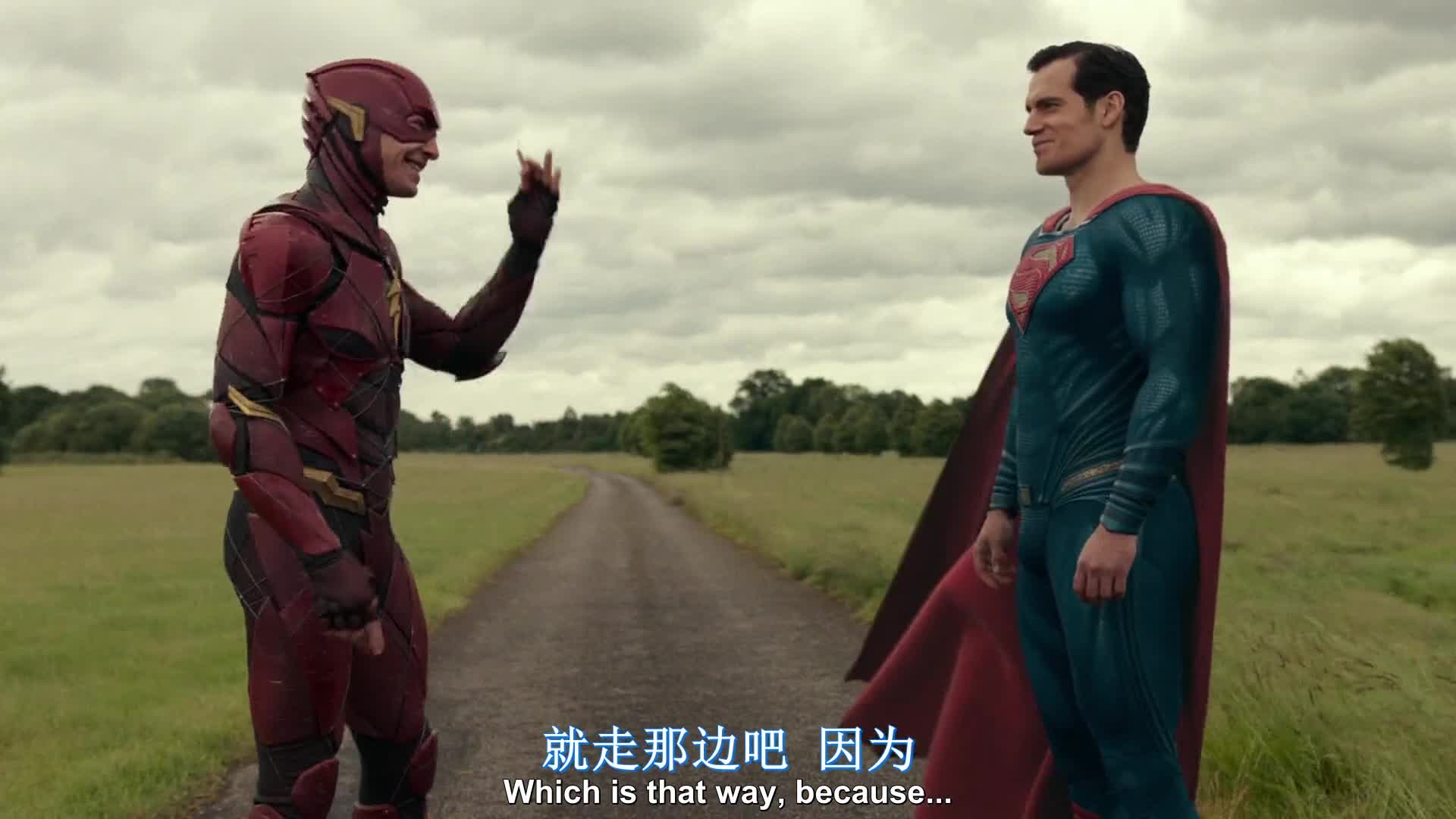 #电影迷的修养#闪电侠与超人比速度,输了请吃早餐__01