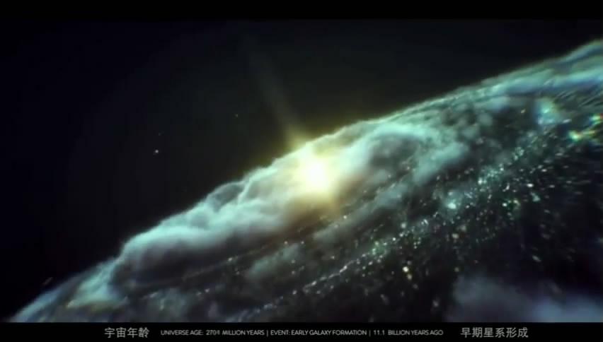 震撼!宇宙的延时摄影:10 分钟展现138 亿年!