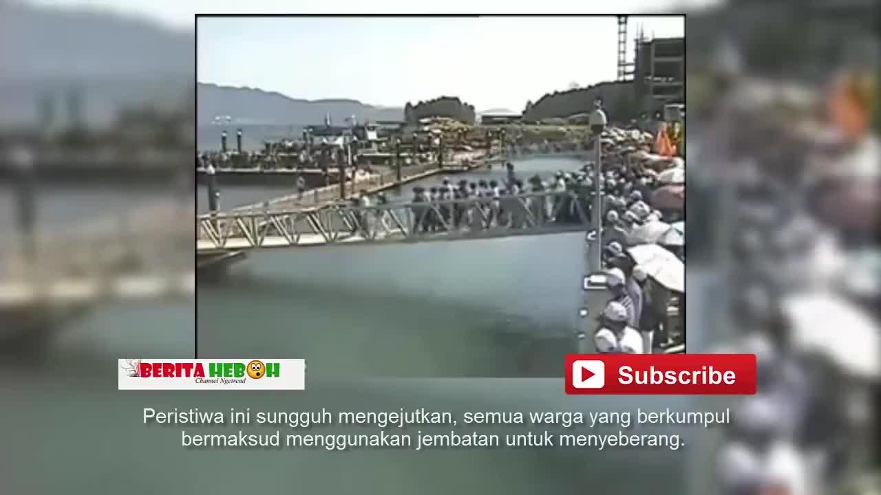 200多人同时急着过吊桥,结果下一秒,让旁人瞬间傻眼 了!
