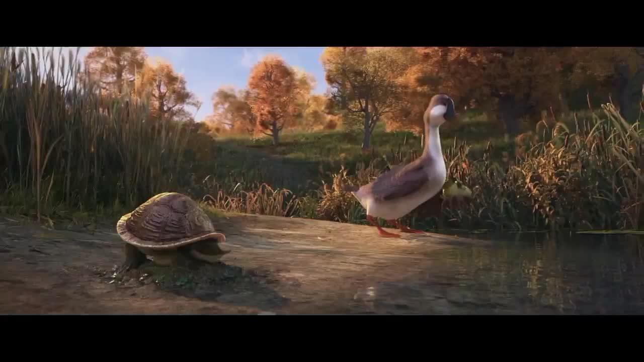 #经典看电影#乌龟和兔子赛跑谁会到达终点,结果得到的答案是:两个相爱了