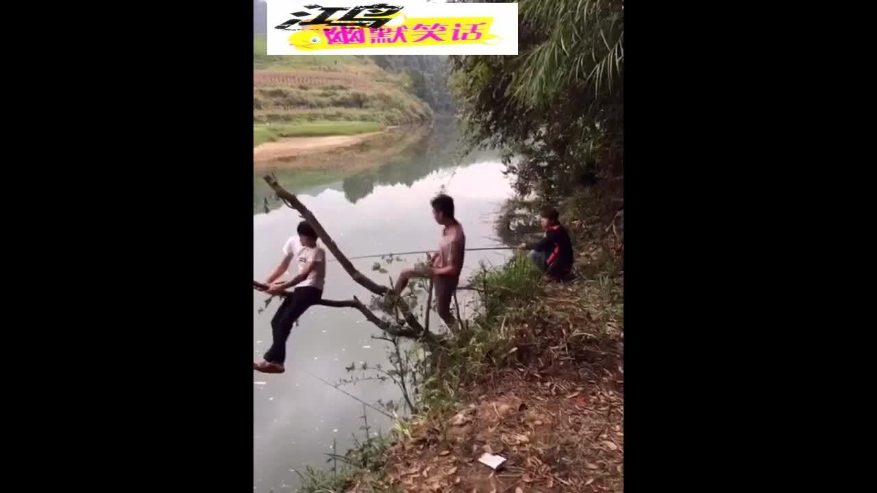 很冷很冷掉进河里