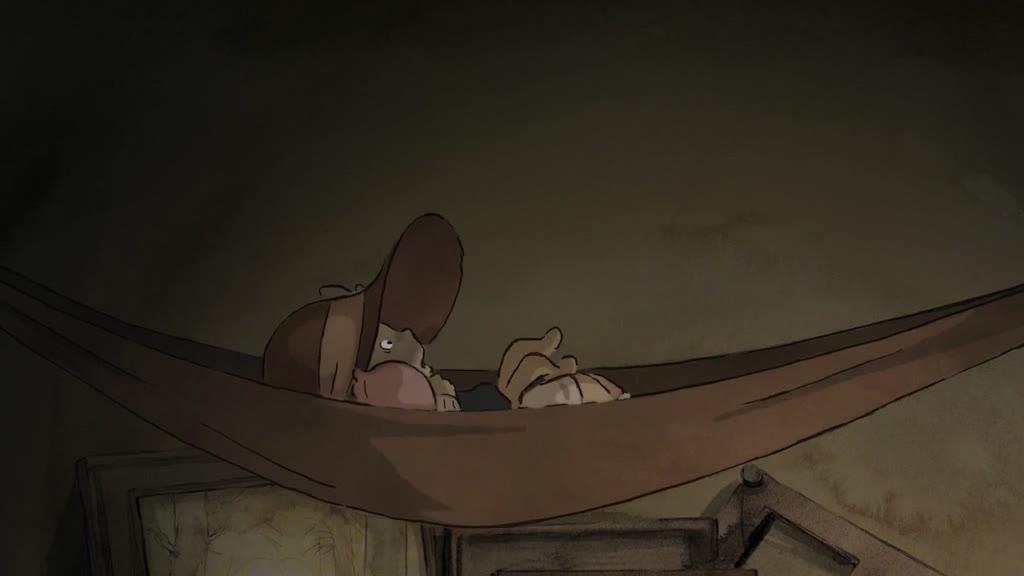 小老鼠想睡觉,大熊动作太大像极了地震,震得小老鼠睡不着