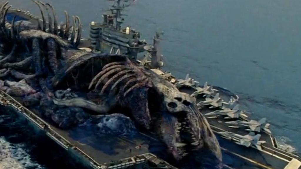 """大量怪兽入侵地球,人类将其杀死后,只能开航母""""抛尸"""""""