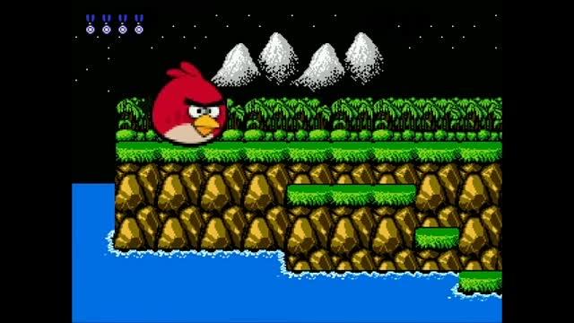 大神把愤怒的小鸟改成了魂斗罗,真是一个奇葩的游戏!