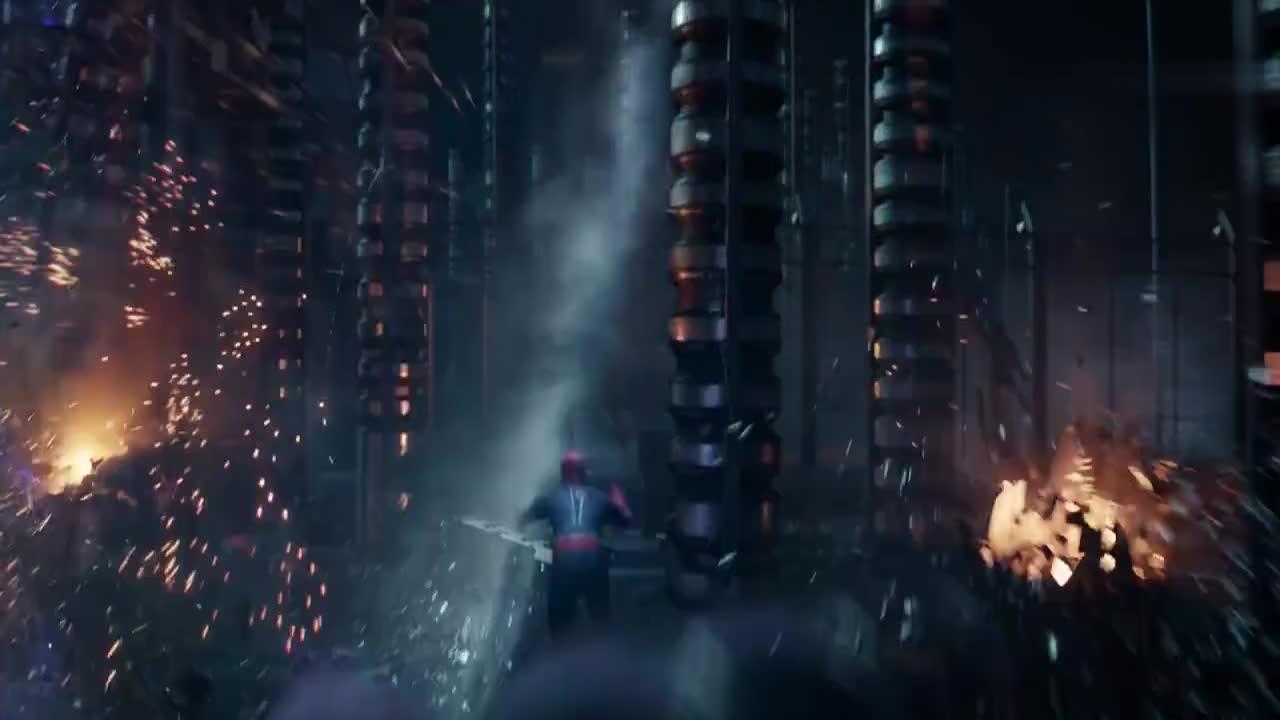 蜘蛛侠大战怪兽,只有逃跑的份,打不过呀!