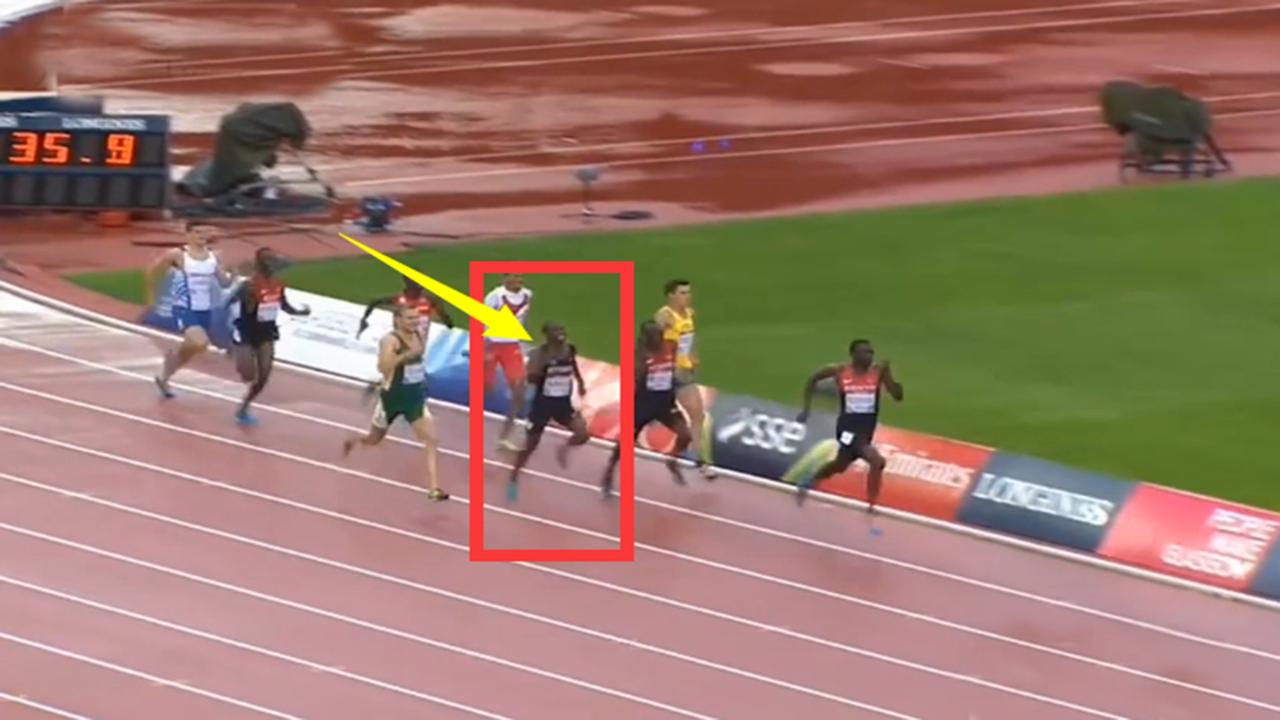 #体育#非人类!800米前720米处在第四,但他爆发连超3人逆转夺冠