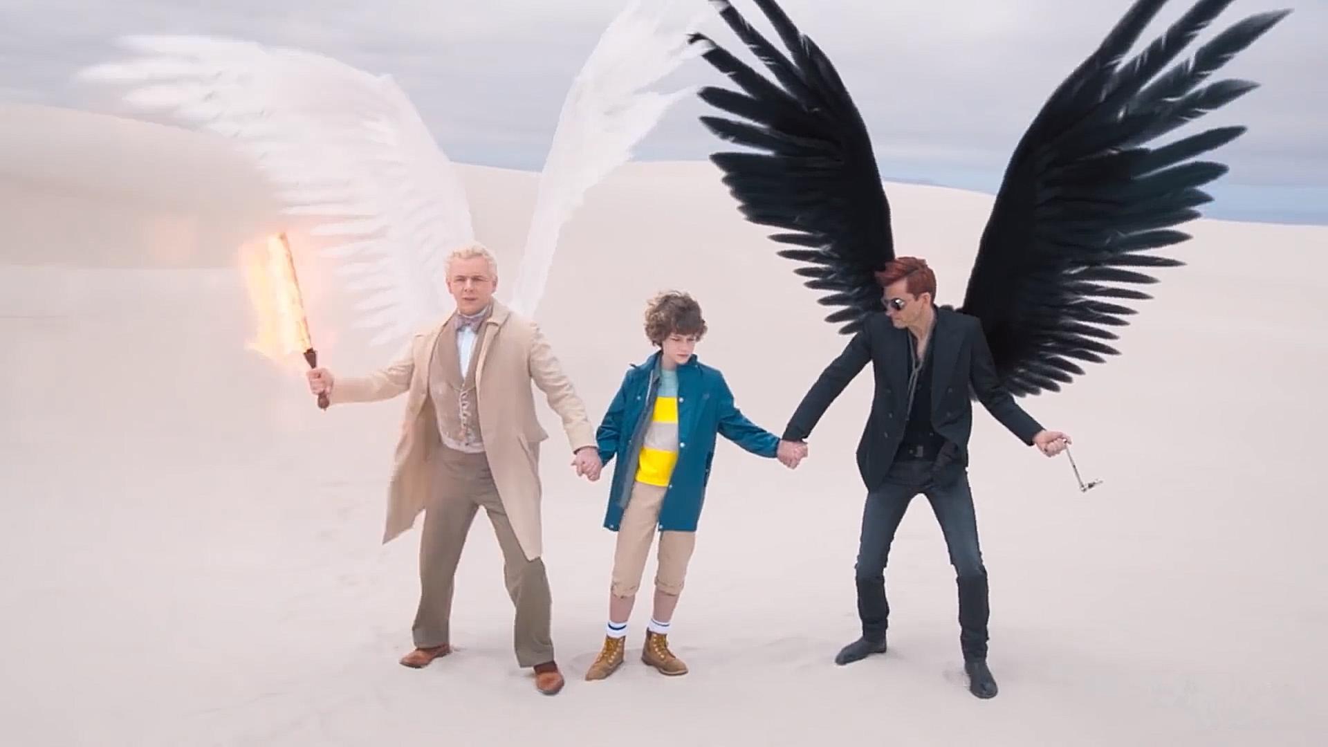 #电影最前线#《好兆头》世界末日即将来临,一个天使和一个恶魔必须组队来对抗