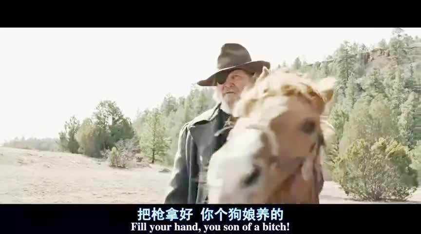 这才是牛仔的正确对战姿势,一个人骑着马对战持武器的四个人!