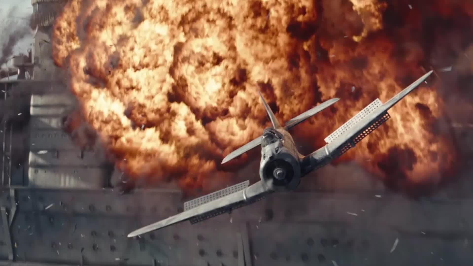 #电影迷的修养#史诗级战争片《决战中途岛》上百架战机激战,39秒后高燃混剪