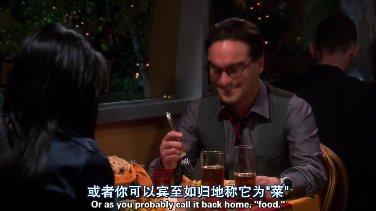 餐厅共进晚餐,突然男生前女友出现,弄得男生紧张的一身汗