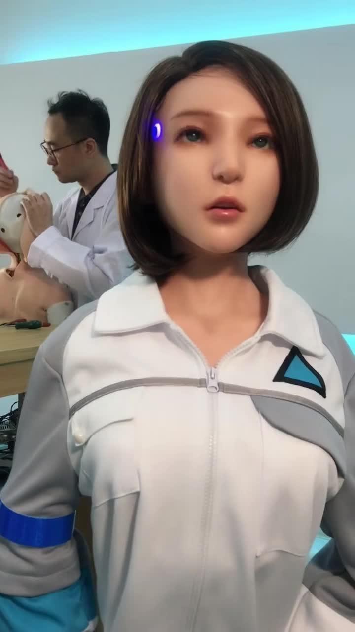 #机器人美女#机器人美女,她居然回做这个,男人有福了!