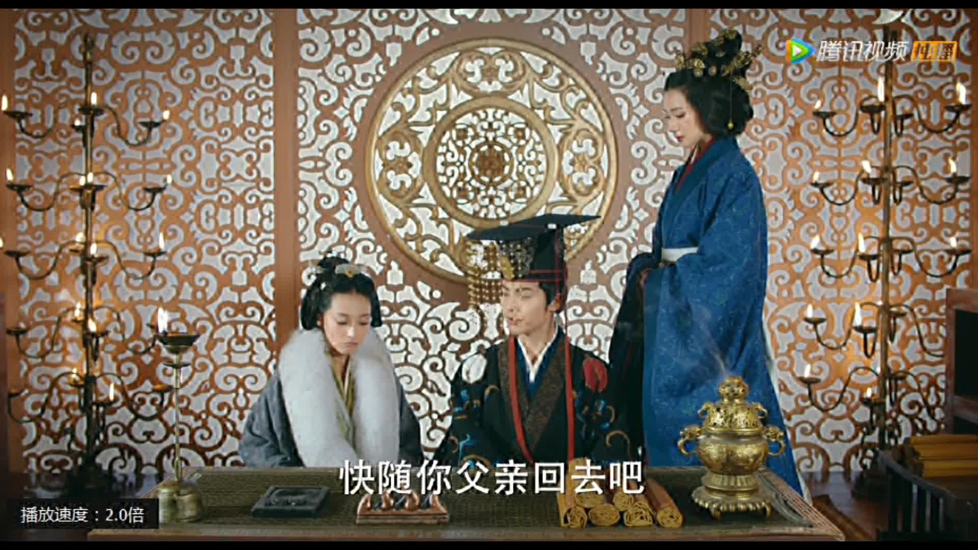 """#最新电视剧#三国机密 董妃:""""陛下,你摸啊,你感觉到了吗?"""""""