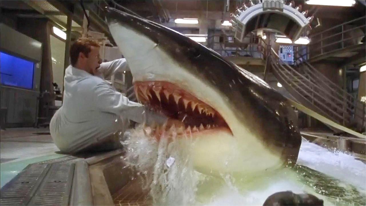 #惊悚看电影#实验导致鲨鱼变异,智商高到超乎想象,几分钟看完《深海狂鲨》