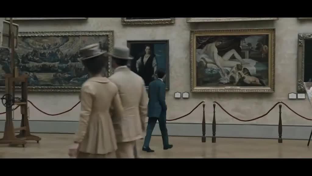 弗兰兹和里埃尔欣赏画作,和女孩子跳舞,回忆很美好
