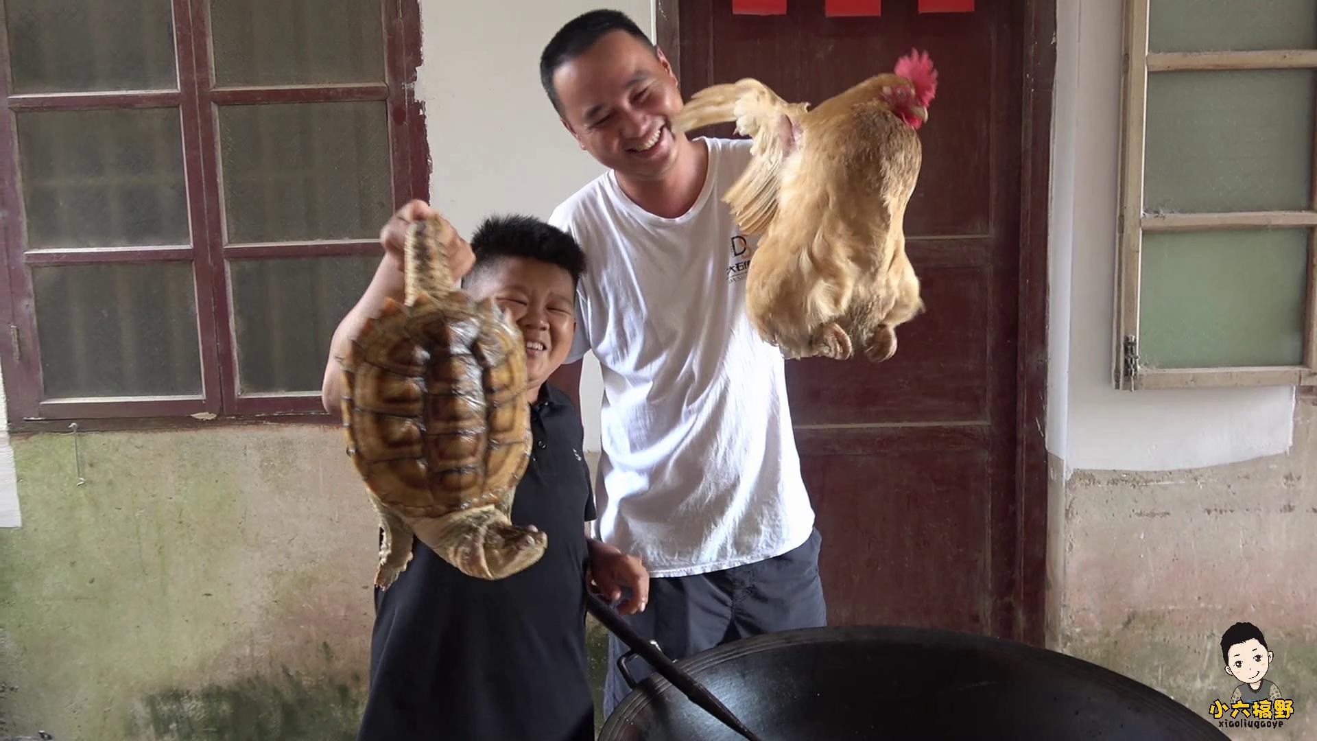 """小六左手一只鸡,右手一只龟,不一样的美食大戏:""""霸王别姬"""""""