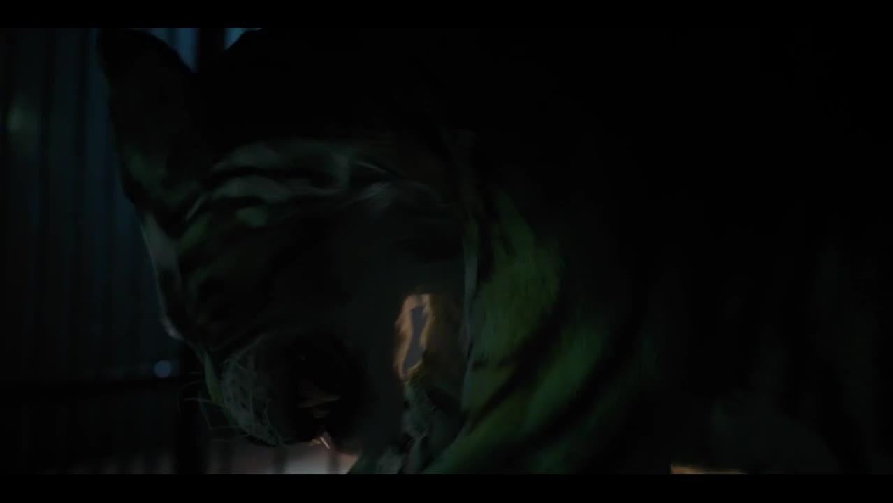 最新动作猛片《泰坦》,野兽小子变成老虎,咬死坏人