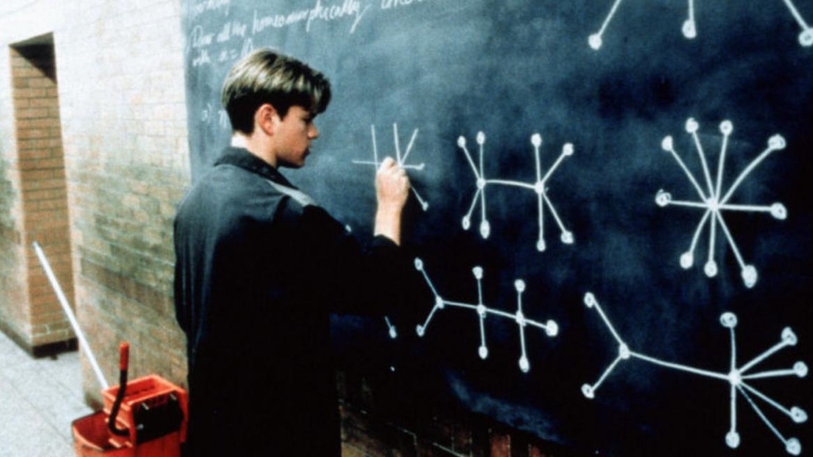 #《心灵捕手》#天才小伙屈身做清洁工,却意外解出麻省理工出的难题《心灵捕手》