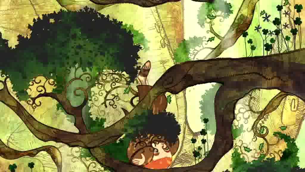掉到树下面还被一个精灵救了