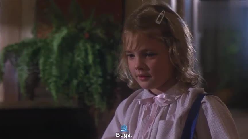 经典科幻片《E.T. 外星人》小女孩教外星人讲话,好萌好有爱