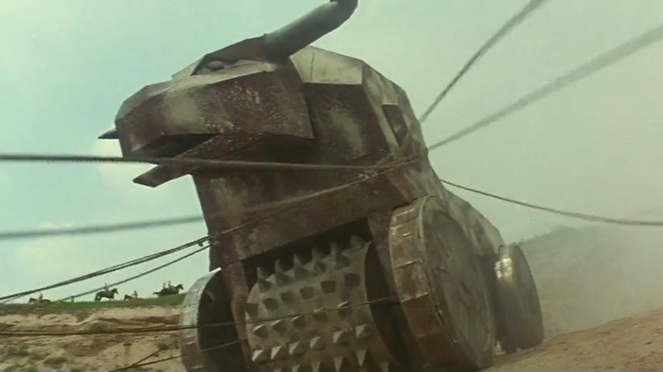没想到这是一头机关牛,可以喷火,还可以加速!