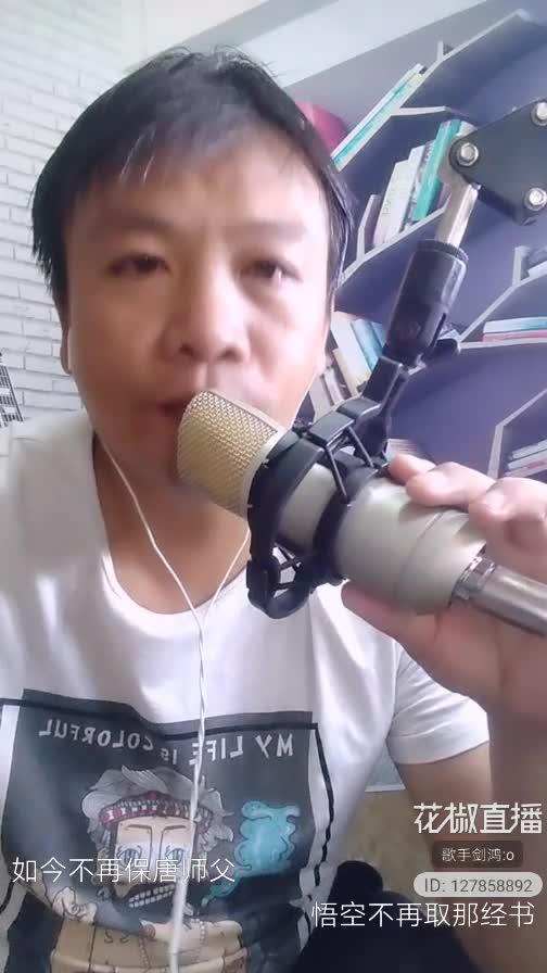 歌手剑鸿真人直播演唱原创歌曲,《卖牛仔裤的孙悟空》,好好听