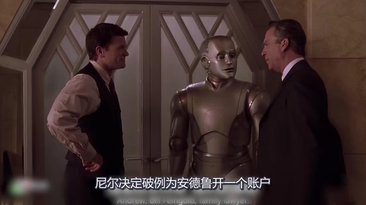 #追剧不能停#机器人为获得人类认可,在自己的体内植入器官,电影《机器管家》