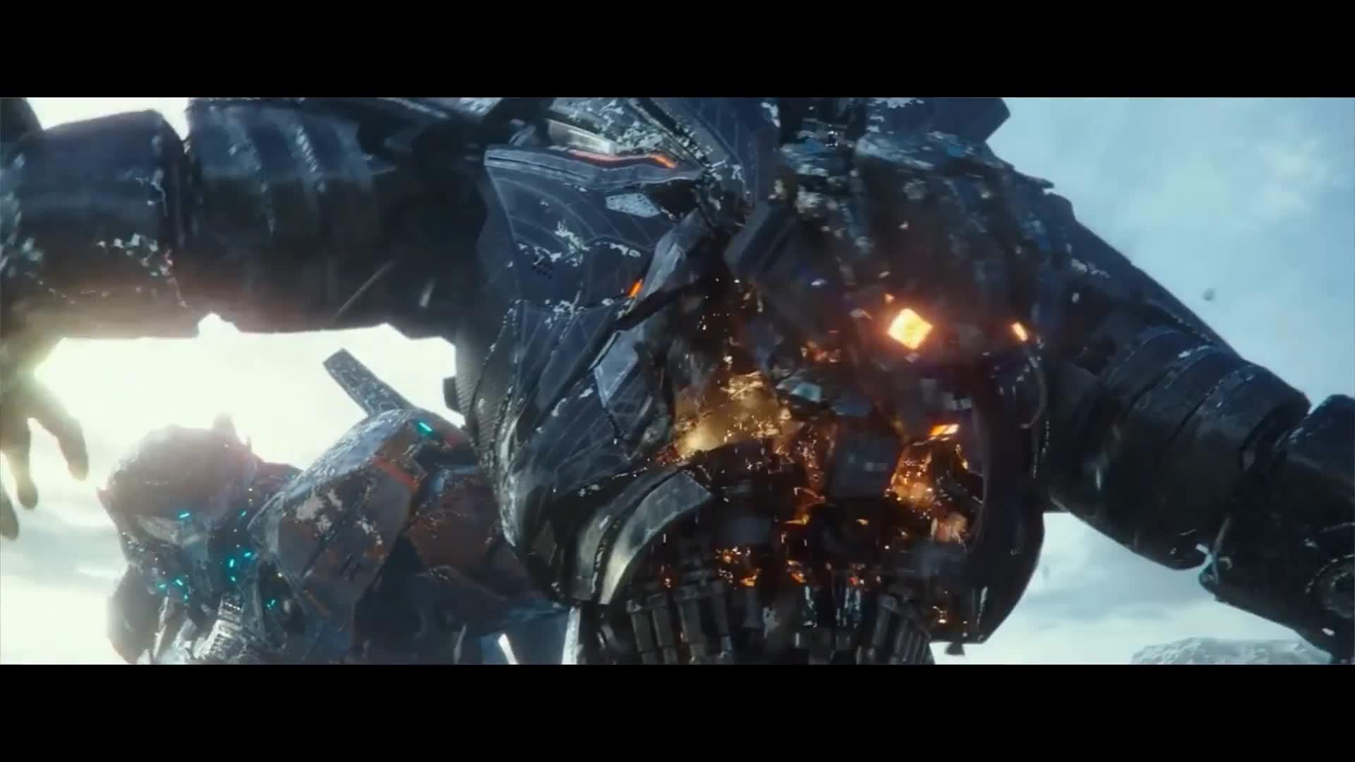 倒放-超级钢铁巨人对战全过程