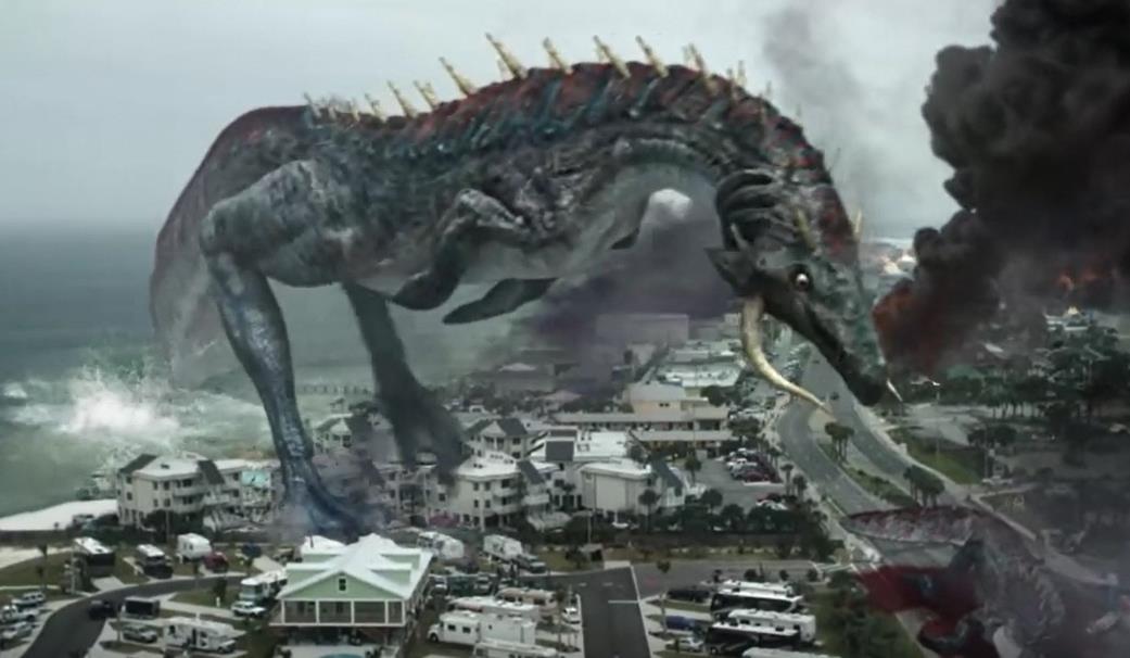 #惊悚看电影#地球现80米高大怪兽,美国派出航母都无济于事,人类该如何自救