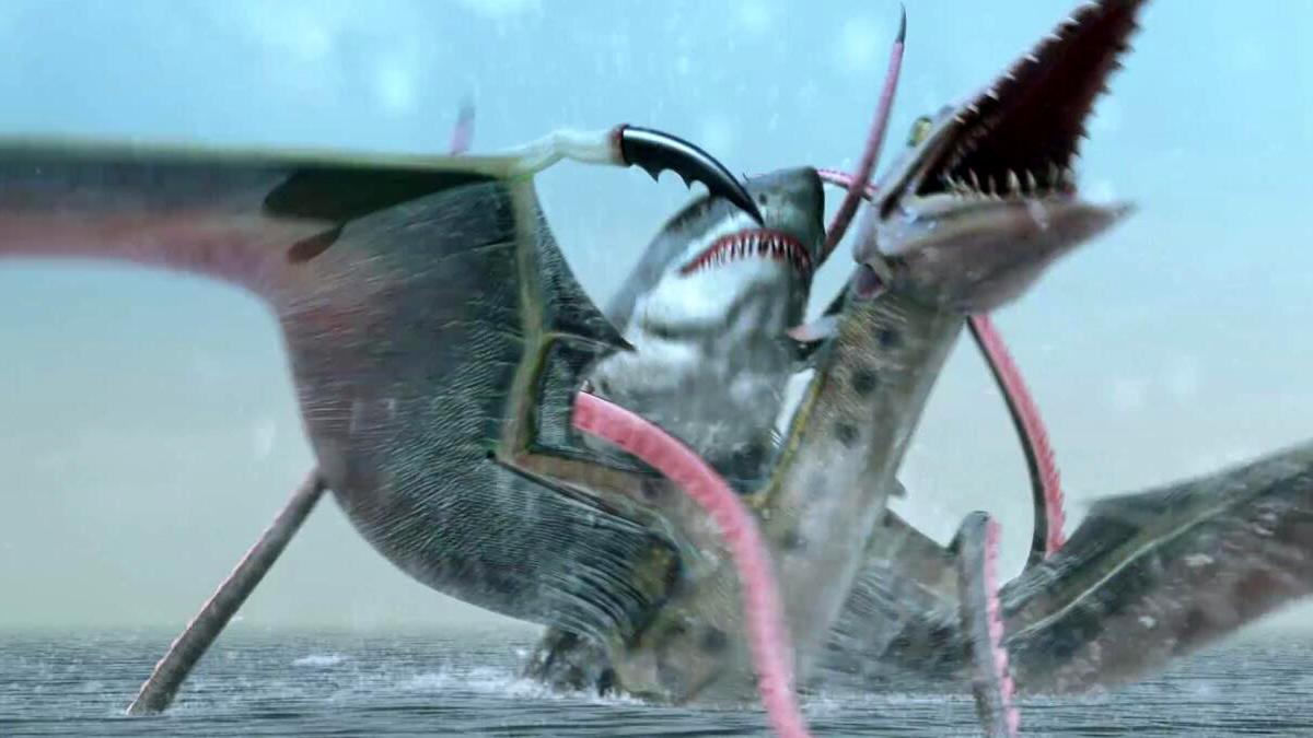 #惊悚看电影#一部美国B级科幻片,狂暴怪兽相互厮杀,看完很过瘾!