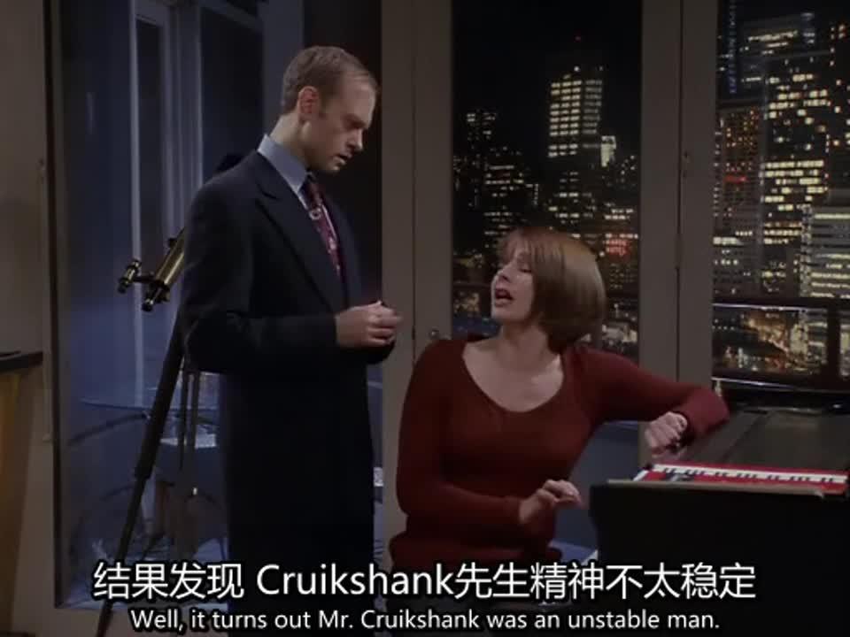 红衣服女人在弹钢琴,老师在旁边指导,女人表现让他不满意