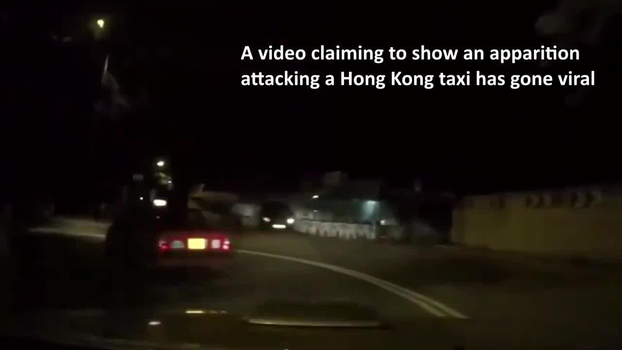 #灵异事件#一鬼魂上了香港出租车,太诡异了,仔细看!