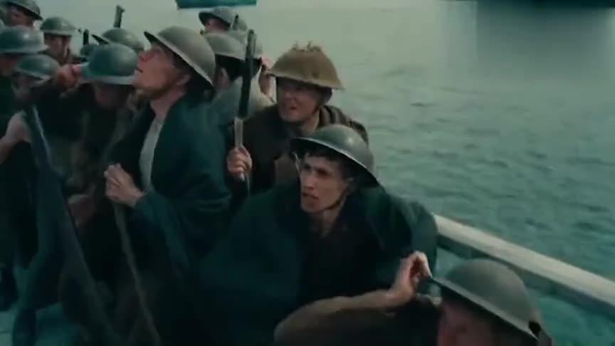 40万英军被困沙滩上,德军飞机对他们狂轰滥炸,捂眼看完