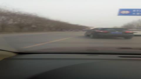 赵庄车祸,长安CX75刹车,保险杠大灯都碎了