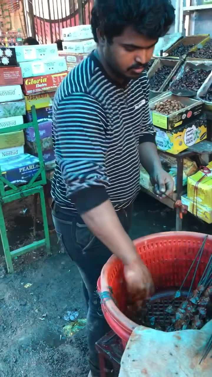 #印度烤串#印度烤串,恶心到吐,太恐怖了!