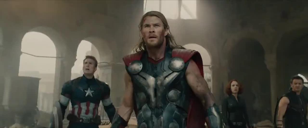 #经典看电影#《复仇者联盟2:奥创纪元》预告片,美国队长钢铁侠拯救地球