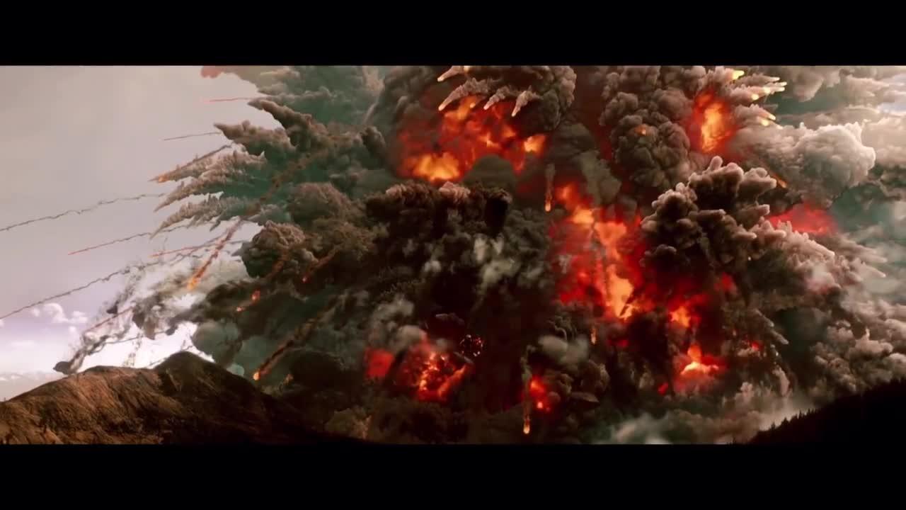 #经典看电影#超级巨型火山爆发,一家人乘坐飞机惊险死里逃生