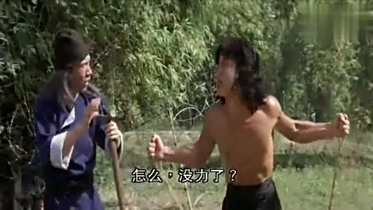 #经典看电影#《笑拳怪招》:八角麒麟竟教成龙学会噫,又被师傅打?