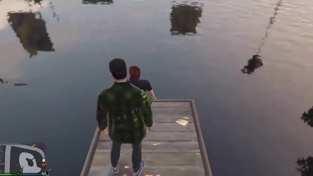 GTA5 湖边大战NPC(侠盗猎车5)