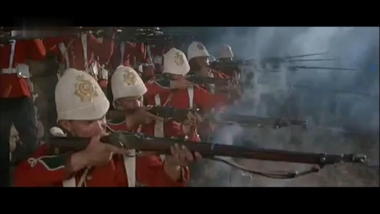 一幅真正的杀戮场景,举着长矛冲锋的勇士,一排排倒在英军枪口下