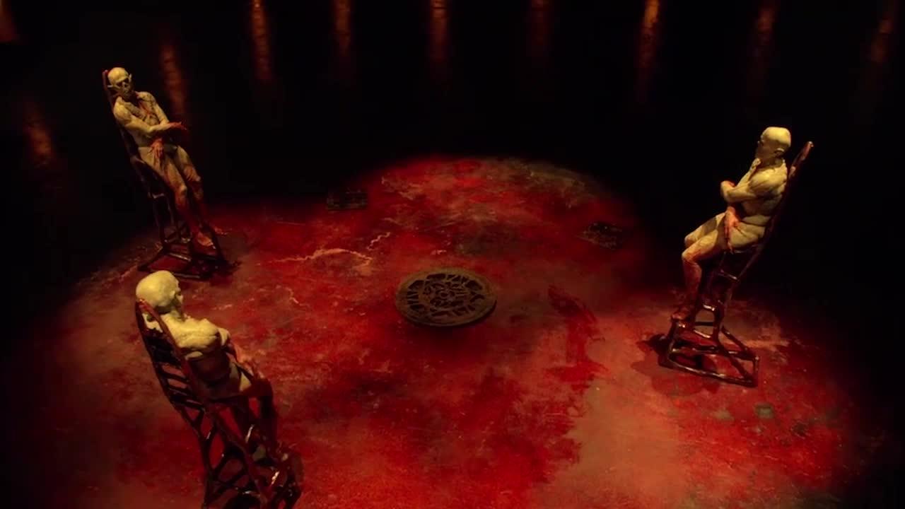 #惊悚看电影#三个千年怪物与他对话,他丝毫不畏惧并威胁他们!