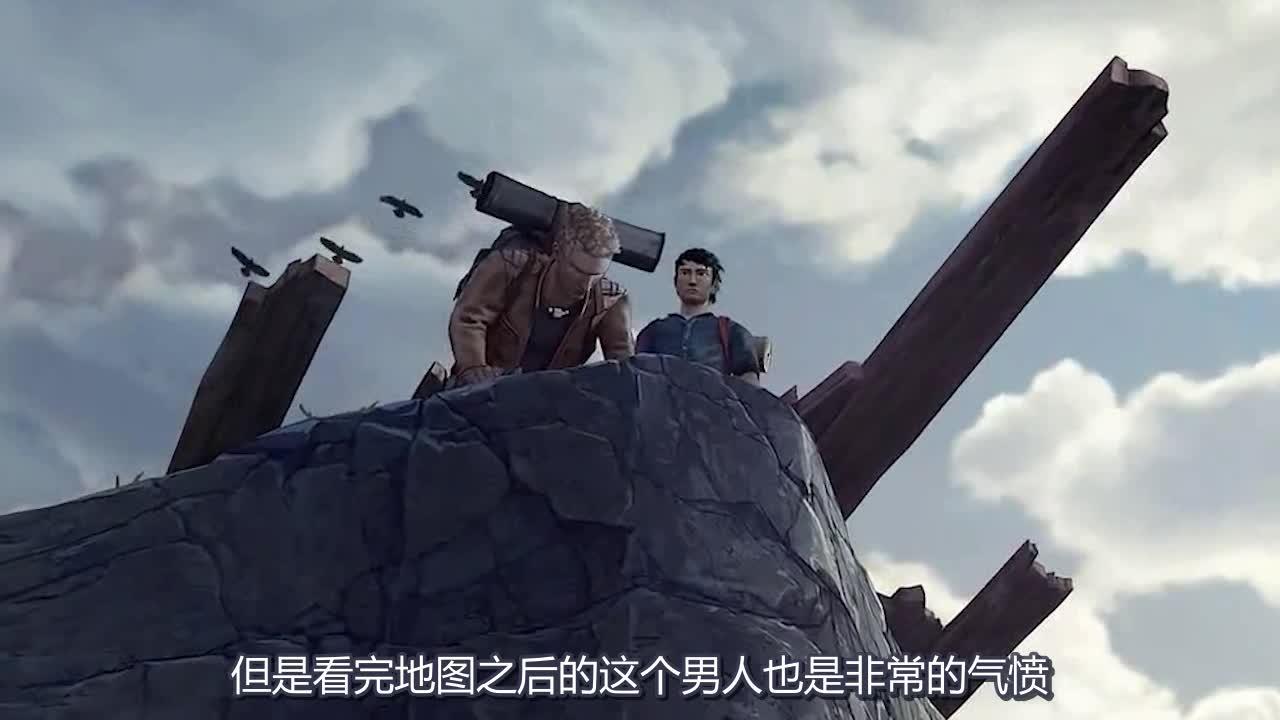 #冒险动画#两个男人一同找寻道路,在危难面前,一个男人选择牺牲了自己?