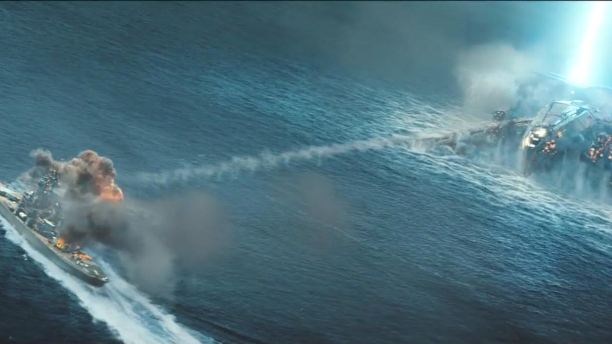 #科幻电影#几分钟看完科幻大片《超级战舰》,这次在战列舰海上大战外星人