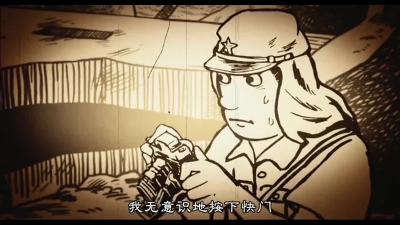 战争核爆炸,男子看到现象,拿起相机拍照