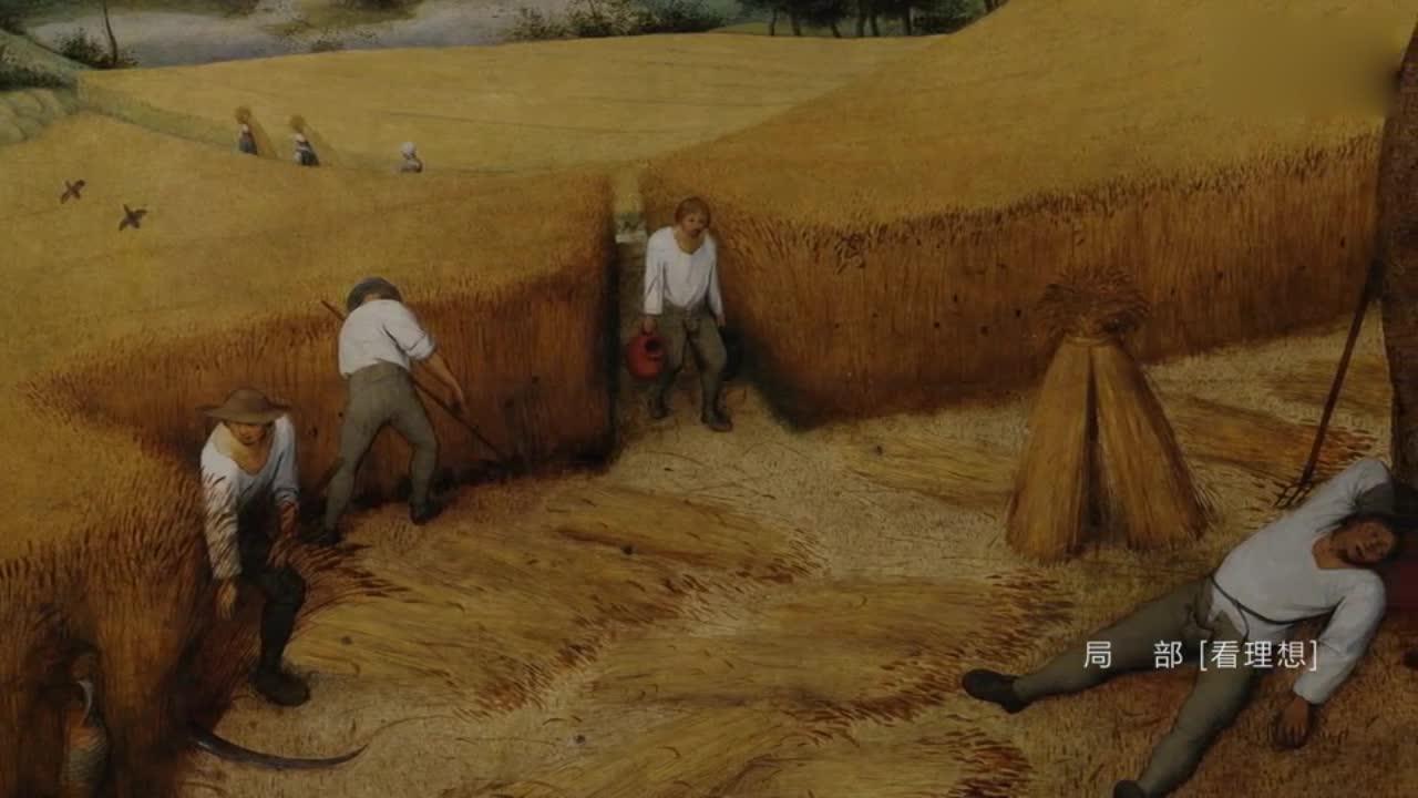 这画上的人都在收麦子,真是太写实了?
